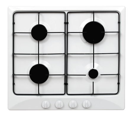 Gas hob isolated on white Stock Photo - 26881556
