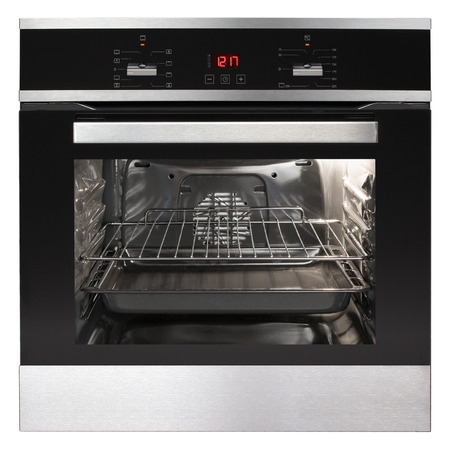 Electric oven isolated on white background  photo