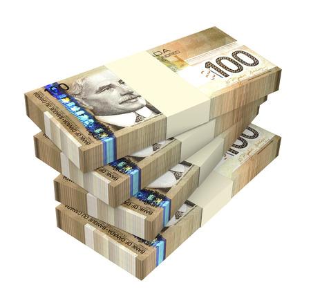 Dollars d'argent isolé sur fond blanc générée par ordinateur de rendu 3D photo