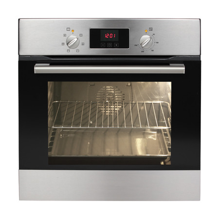 Electric oven isolated on white background   Stock Photo