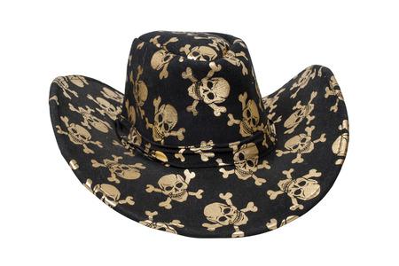 piratenhoed: Zwarte piraten hoed geïsoleerd over wit met het knippen van weg