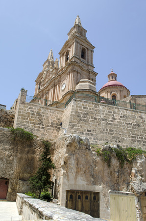View of Parish Church - Mellieha, Malta photo