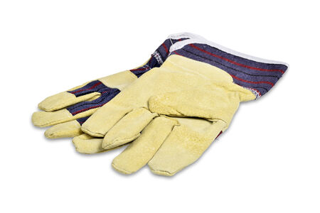 Protective gloves isolated over white with clipping path  photo