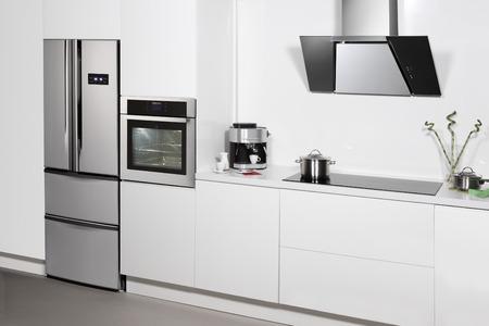 refrigerator kitchen: Modern kitchen interior