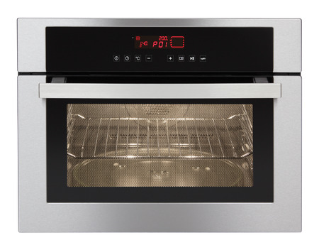 baking oven: Microwave oven isolated on white background  Stock Photo