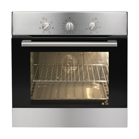 Electric oven isolated on white background