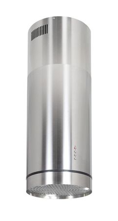Modern INOX cooker hood isolated on white  photo