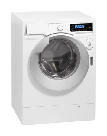 A washing machine isolated over white