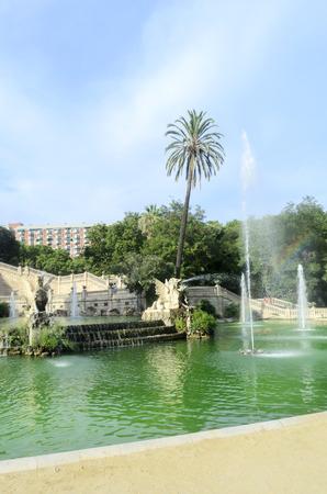 Fountain at Parc de la Ciutadella in Barcelona, Spain photo