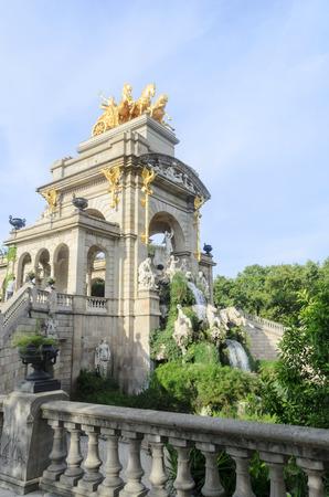 Triumphal arch in Parc de la Ciutadella in Barcelona, Spain photo
