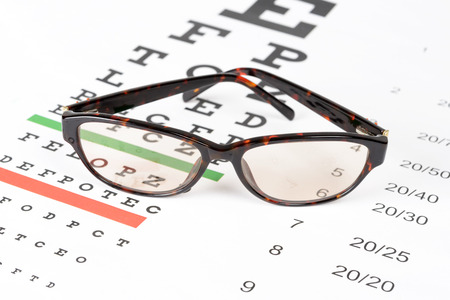 Prescription Sunglasses On The Eye Chart Background. Stock Photo, Picture  And Royalty Free Image. Image 31875360.