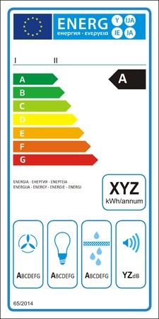 classify: Range hood new energy rating graph label