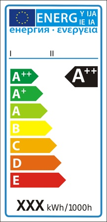 Lampe neue Energie Rating-Diagramm Label Illustration