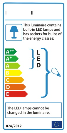Luminaire new energy rating graph label Vector