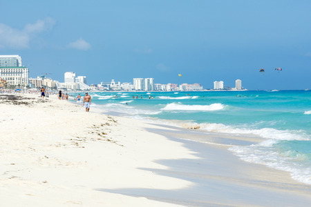 A view of Cancun beach on the Yucatan, Mexico. Foto de archivo