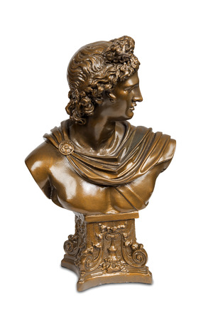 Bust sculpture of Phoebus Apollo isolated   Stock Photo
