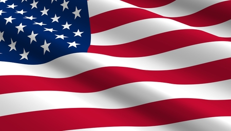 United States flag background. Computer generated 3D photo rendering.