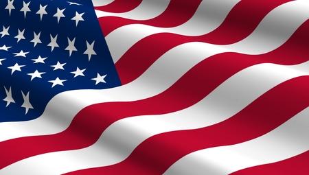 verenigde staten vlag: Verenigde Staten vlag achtergrond. Computer gegenereerde 3D foto renderen.