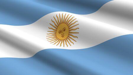 bandera argentina: Argentina bandera de fondo. Ordenador de la foto 3D.