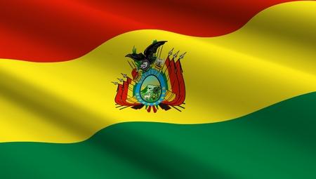 bandera de bolivia: Bolivia bandera de fondo. Ordenador de la foto 3D.