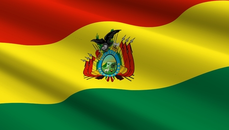 flag icons: Bolivia flag background. Computer generated 3D photo rendering. Stock Photo