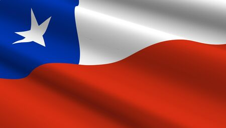 chile flag: Chile flag background. Computer generated 3D photo rendering. Stock Photo