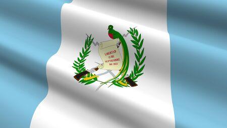 bandera de guatemala: Guatemala bandera de fondo. Ordenador de la foto 3D. Foto de archivo
