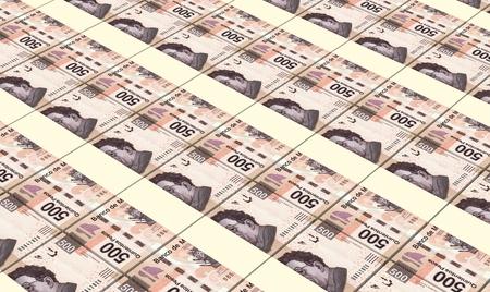 prespective: Mexican pesos bills stacks background. Stock Photo