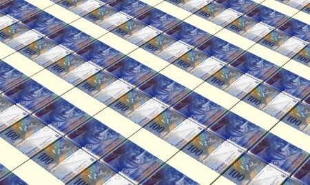 swiss franc: Swiss franc bills stacks background.