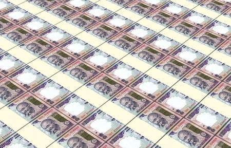 rupee: India Rupee bills stacks background.