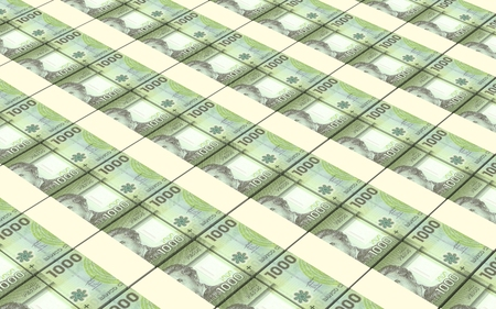 prespective: Chilean pesos bills stacks background.