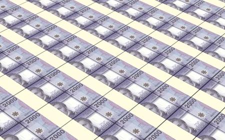 chilean: Chilean pesos bills stacks background.