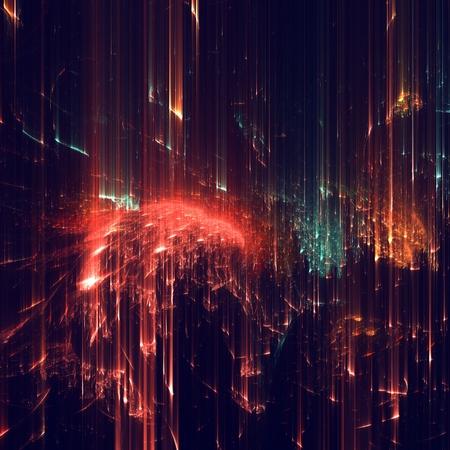 抽象的な: フラクタル テクスチャの抽象的な形が作られました。