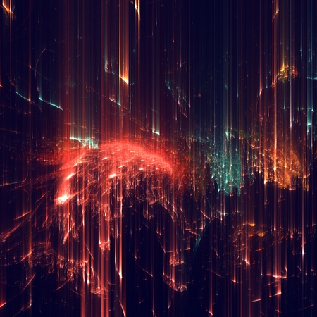 abstracto: Formas abstractas hechas de texturas fractales. Foto de archivo