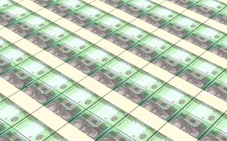 ukrainian: Ukrainian hryvnia bills stacks background.