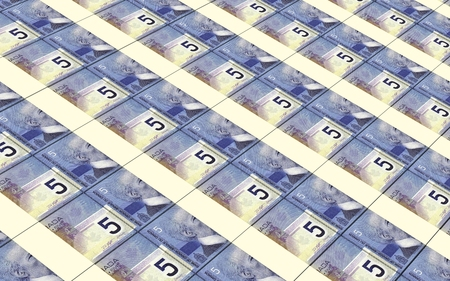 canadian cash: Canadian dollar bills stacked background.