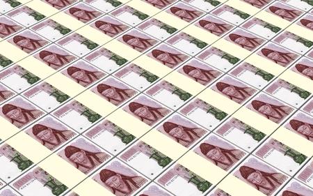 won: Korean won bills stacks background.