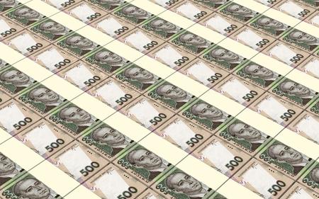 prespective: Ukrainian hryvnia bills stacks background.