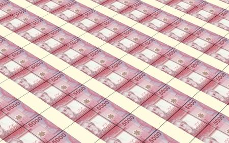 pesos: Chilean pesos bills stacks background.