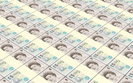 british pound: The British pound bills stacks background. Stock Photo