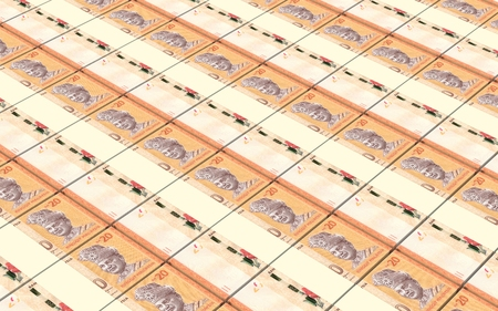 prespective: Malaysian ringgit stacks background.