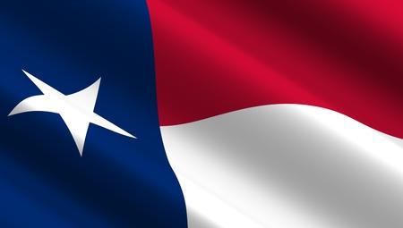 waving: Waving flag of Texas state.
