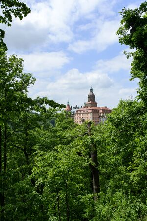 silesia: Ksiaz Palace naer Walbrzych in Lower Silesia Poland Editorial