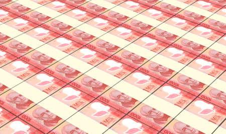 batch: Argentina pesos bills stacks background. Stock Photo