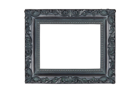 verdigris: Vintage picture frame isolated over white with clipping path.