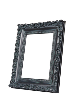 verdigris: Vintage picture frame isolated