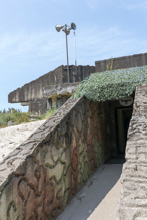 Reich: USTKA - JULY 08: Entrance to the Bunker Bluchnera - Nazi fortifications of the Second World War on the Baltic coast on 8 July 2015 in Ustka, Poland. Editorial