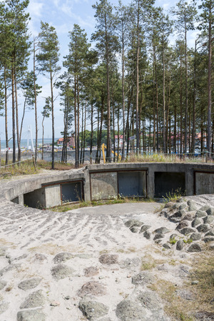 tree world tree service:  fortifications Bunkers Bluchnera of the Second World War on the Baltic coast in Ustka. Poland Editorial