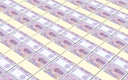bulgarian: Bulgarian lev bills stacks background. Stock Photo
