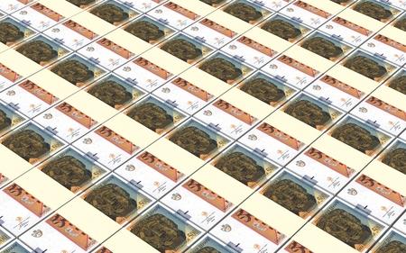 macedonian: Macedonian denar bills stacks background.